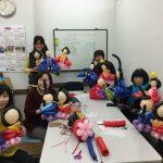 広島の大人のバルーン教室★3月は、お雛様だよ!だけどね…