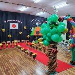 卒園式の飾り付け★昨日は広島の保育園の卒園式でした